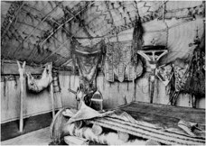 Interior of a Tuareg (Kel Ayr) mat-covered armature tent (from Prussin & Tuareg: Nomadic architectures